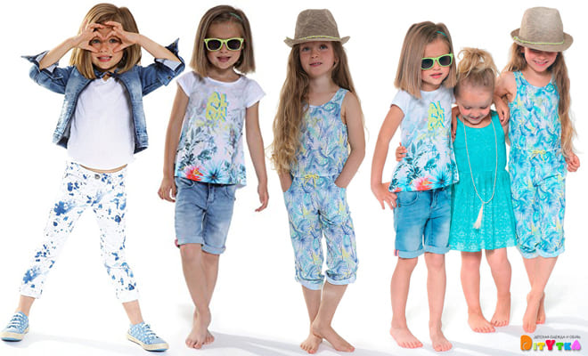 "Clothes for girls 3POMMES collection ""Aloha"""