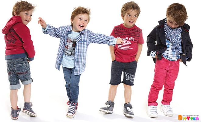 "Clothes for boys 3POMMES collection ""Blue City"""