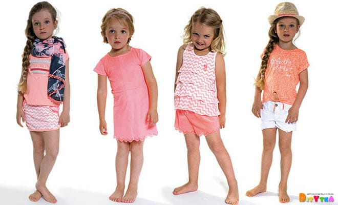 "Clothes for girls 3POMMES collection ""Neon Beach"""