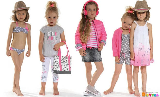 "Clothes for girls 3POMMES collection ""Pink Little Star"""