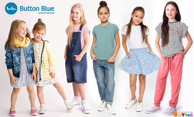 BUTTON BLUE Beautiful children's clothing for girls season spring-Summer