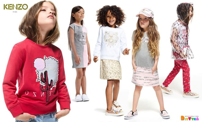 Children 's clothing KENZO-KIDS collection Girl for girls from 4 to 12 years old