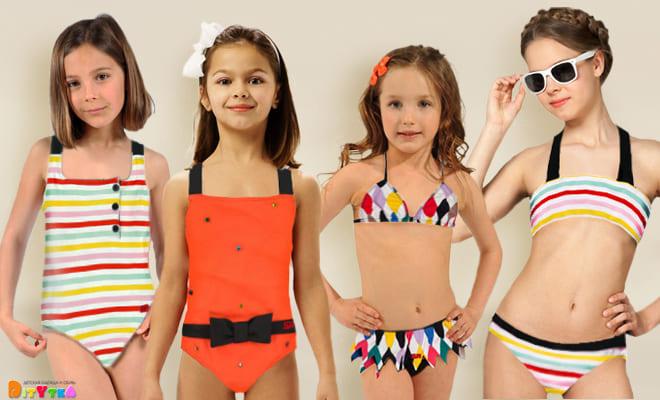 Luxury swimwear for girls from Sonia Rykiel Enfant