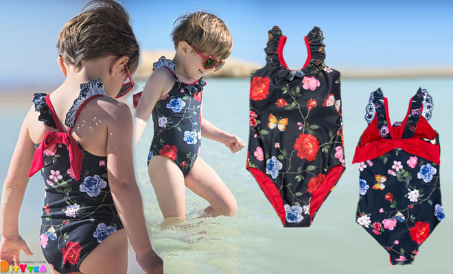 Fashionable swimwear for young ladies from Monnalisa