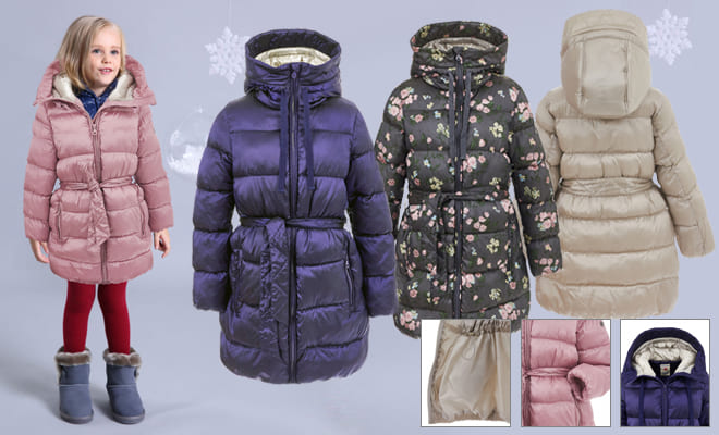 Верхняя одежда для девочек Button Blue коллекция Main — зимнее полупальто  Girls ' Outerwear Button Blue collection Main-Winter half coat