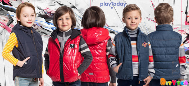 Children's vests-fashionable outerwear for autumn Playtoday