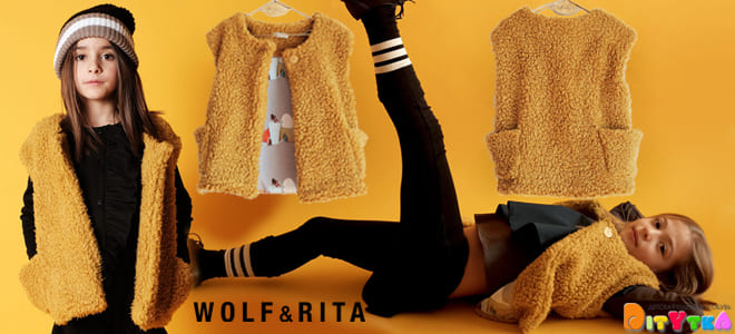 Children's vests-fashionable outerwear for autumn Wolf & Rita