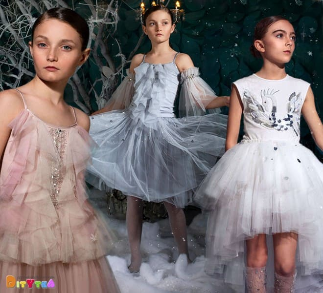 Dresses 'All I Want' and 'Cherished Swan' Tutu Du Monde, collection of Once Upon A Holiday