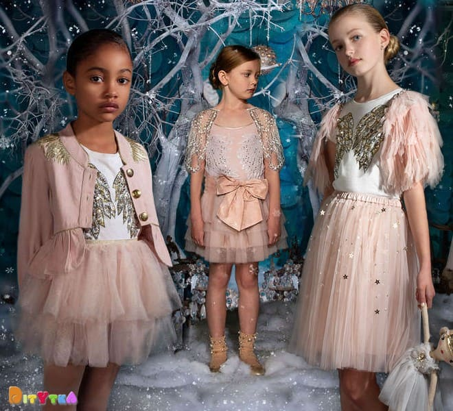 Dress 'Robin's Wings', T-shirt 'Archangel', skirt ' Moonlight ', jacket ' Merry Maker ' and Cape 'Dainty' Tutu Du Monde, Once Upon A Holiday Collection