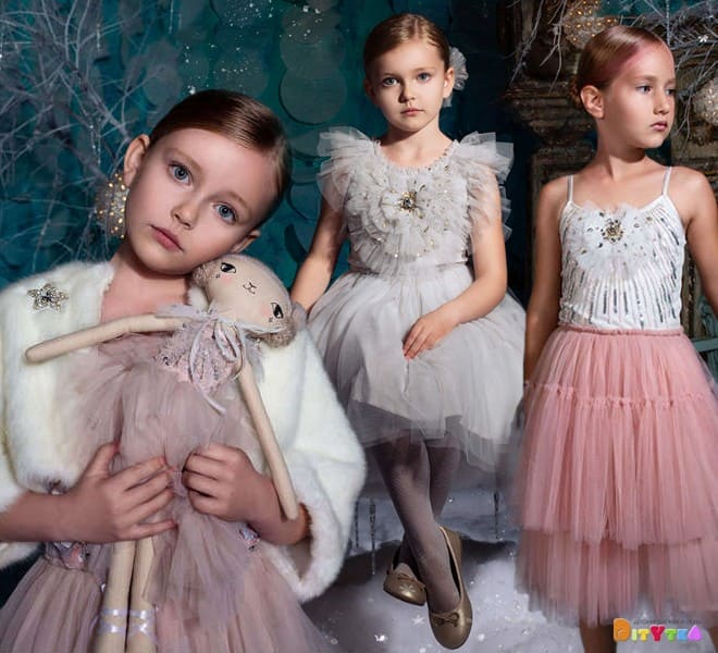 Dresses 'Dazzling Heart', 'Shining Spirit' and jacket 'Daphne' Tutu Du Monde, collection of Once Upon A Holiday