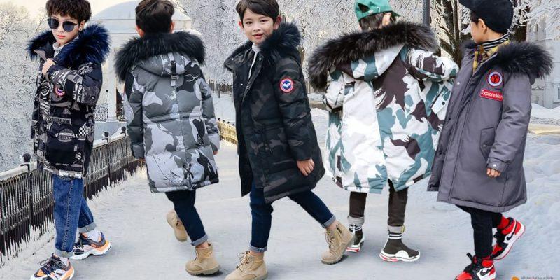 Зимние пуховики для мальчиков